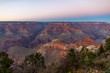 canvas print picture - view of grand canyon at sunset