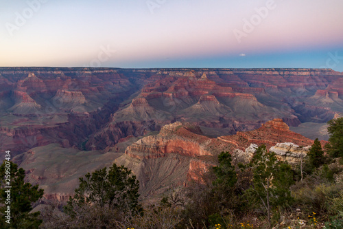 canvas print picture view of grand canyon at sunset