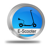 E-Scooter Button - 3D illustration