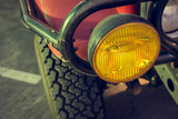 headlight of strong off-road car