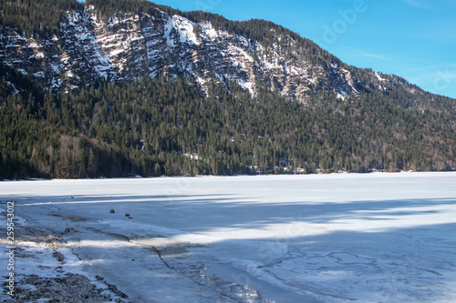 canvas print picture Bergsee