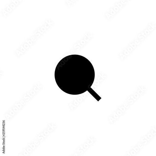 loupe icon vector. loupe vector graphic illustration © Aleksandr