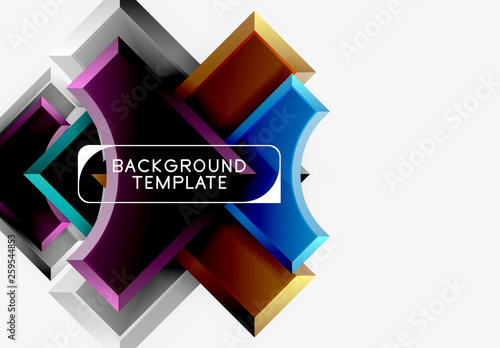 Geometrical 3d shapes background © antishock
