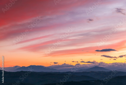 Colorful morning sky background.