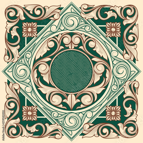 Decorative ornate vintage design - 259582050