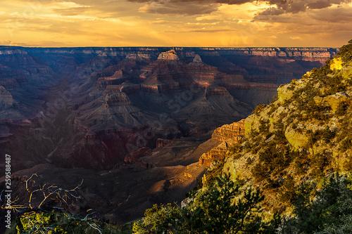 canvas print picture Sonnenuntergang im Grand Canyon