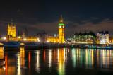 Fototapeta Big Ben - Big Ben and Houses of parliament at night, London, UK © Mistervlad
