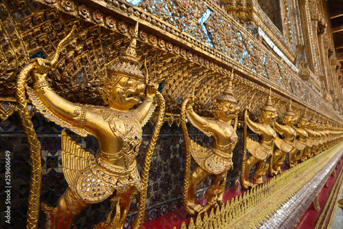 Fototapeten Bangkok Wat Phra Kaew, commonly known in English as the Temple of the Emerald Buddha or grand palace is regarded as the most sacred Buddhist temple in Thailand