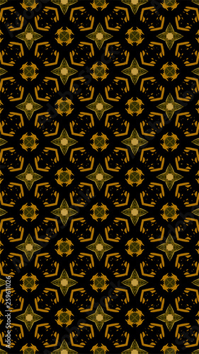 Ornate geometric pattern and abstract multicolored background - 259611026