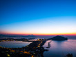Quadro Phlegraean Fields and the Gulf of Naples at dawn with the Vesuvius volcano in the background, a beautiful panorama