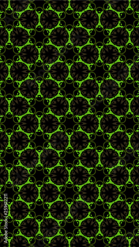 Ornate geometric pattern and abstract multicolored background - 259612211