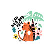 Tiger and text illustration for children