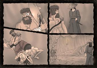 fantasy comic scene background
