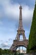 Al pie de la Torre Eiffel.