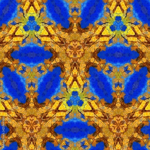 Gold art. Abstract design pattern in rich royal style. Golden color background. Liquid effect graphic artwork.  - 259641460