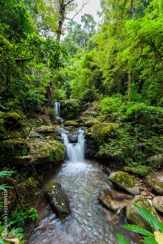 Leinwandbild Motiv Nature Landscape of Sapan Waterfall at Sapan village, Boklua District