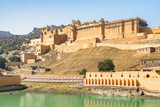 View of the Amer Fort and the Maota Lake, India