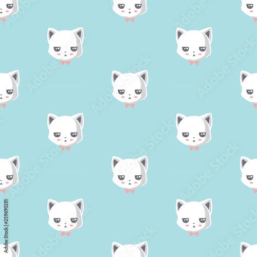 fototapeta na ścianę pattern with cute cat..