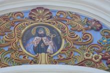 """Постер, картина, фотообои """"fresco in temple"""""""