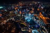 Krajobraz Dubaju nocą