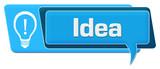 Pomysł Niebieski komentarz Symbol Poziomy