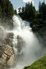 Krimmler Wasserfall in den Tiroler Bergen