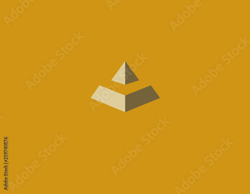 Creative icon silhouette of a pyramid geometric figure
