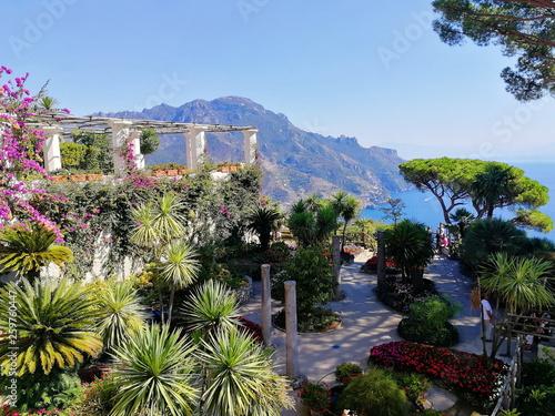 Ravello, Italy. Amalfi coast. View from Villa Rufolo