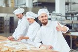 Bearded male baker at the bakery.