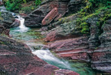 Red Rock Creek flows through Red Rock Canyon in Waterton National Park, Canada