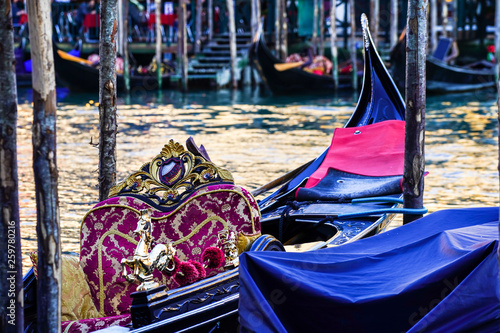 Detail of a gondola in Venice, Italy © Francesca