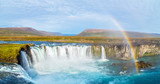A view of Godafoss, one of most beautiful waterfalls in Iceland