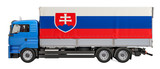 Cargo Delivery in Slovakia concept, 3D rendering