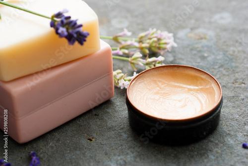 Lavender, soap, cream - 259808208
