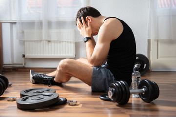 Man Suffering In Gym