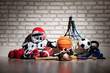 canvas print picture - Sports Equipment On Floor