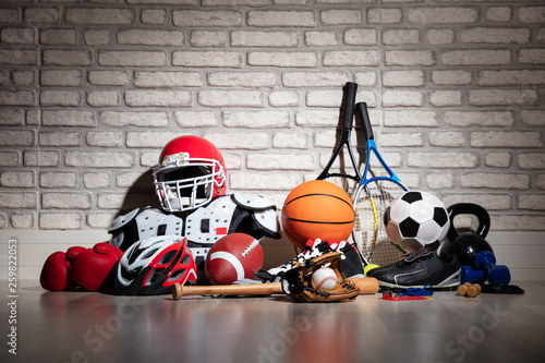 Sports Equipment On Floor © Andrey Popov