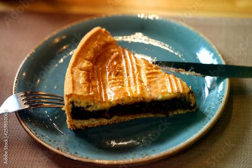 Macro photo of sweet baked chocolate cake © tanor27