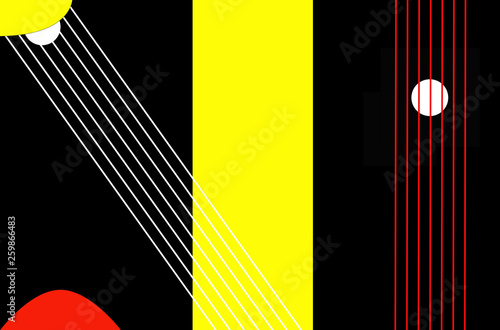 Bright color background in avant-garde style. Texture units for celebration and advertising. - 259866483