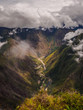 View from the top of Machu Picchu mountain, the river and the Hidroelectrica