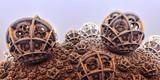 Background fantastic 3D spheres