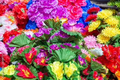decorative artificial flowers - 259877270