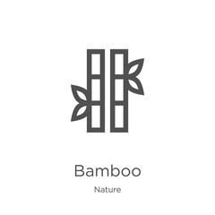 bamboo icon vector from nature collection. Thin line bamboo outline icon vector illustration. Outline, thin line bamboo icon for website design and mobile, app development © MacroOne