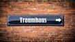 canvas print picture - Schild 404 - Traumhaus