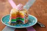 Fototapeta Tęcza - little rainbow cake © kristina rütten