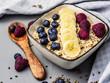 canvas print picture - Porridge mit Früchten