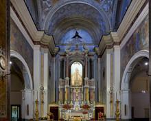 "Постер, картина, фотообои ""Naples Campania Italy. Parrocchia Santa Maria della Mercede in Via Chiaia"""