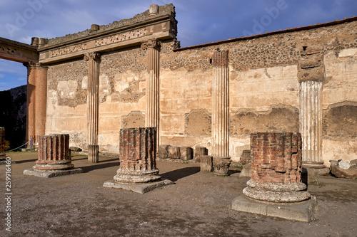 Naples Campania Italy. Pompeiiancient city