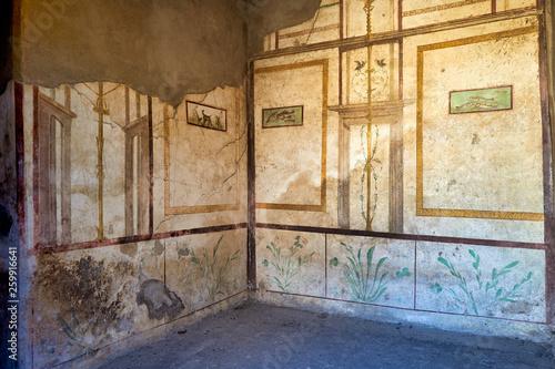 canvas print picture Naples Campania Italy. Pompeiiancient city