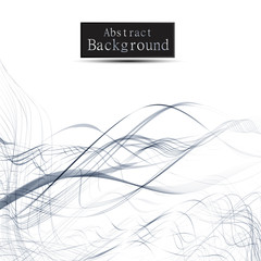 Abstract wavy lines background with grey & white colors, ideal for business, brochure cover designs.